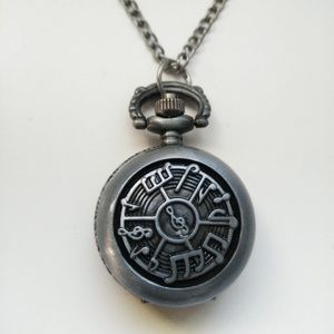 Music Pocket Watch Necklace